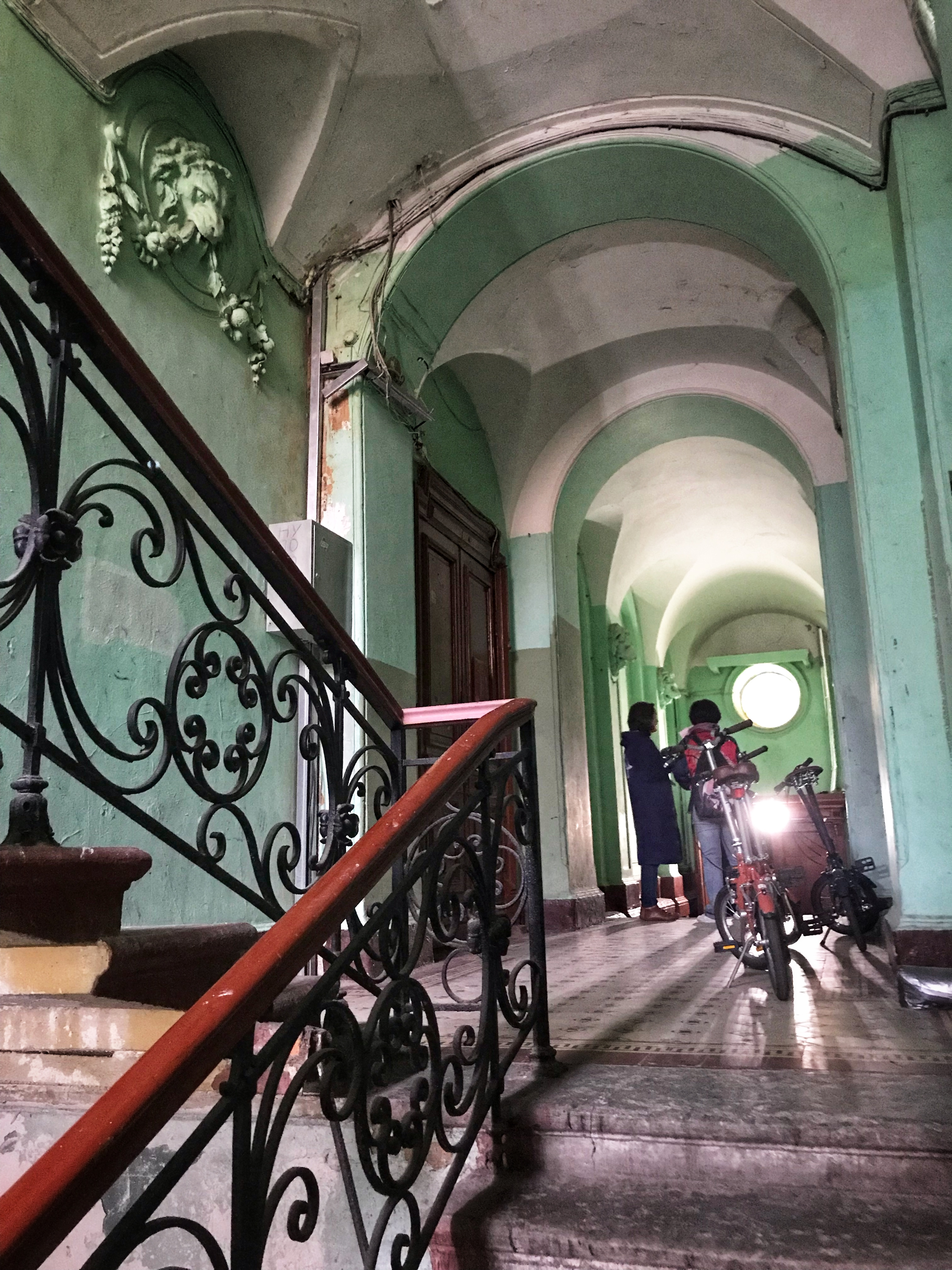 We often enter grand old residential buildings on our tours of St Petersburg.